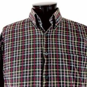 Alan Flusser Plaid Long Sleeve Classic Oxford